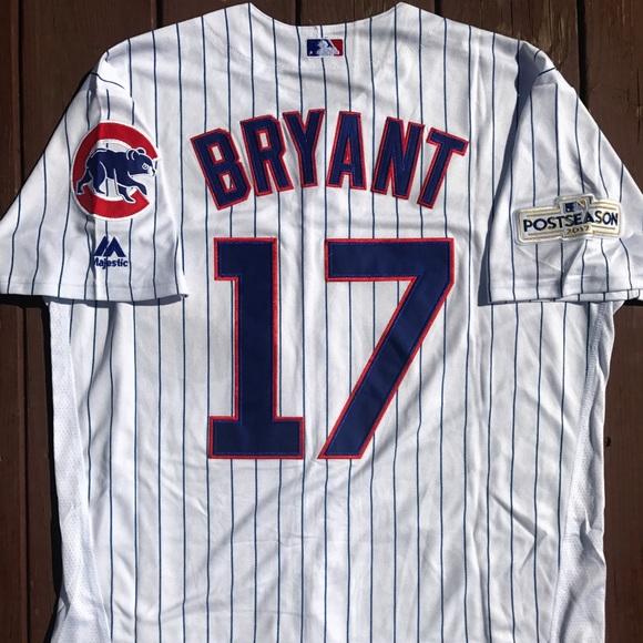 1fcefea49 Men s Kris Bryant Chicago Cubs Home Jersey (L)